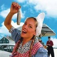 eating a raw herring. Holland Private Tour from Amsterdam