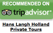 logo TripAdvisor. Hans Langh Holland Private Tours has been awarded the Certificate of Excellence from TripAdvisor. private Holland Tour from your cruise